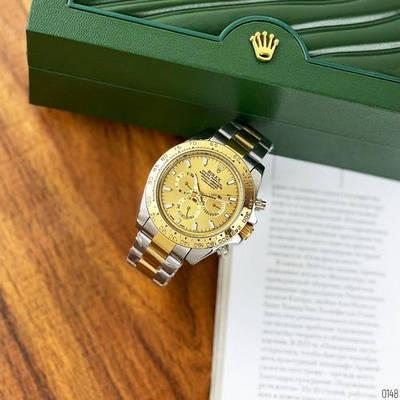 Швейцарские наручные часы Rolex Daytona Automatic Silver-Gold