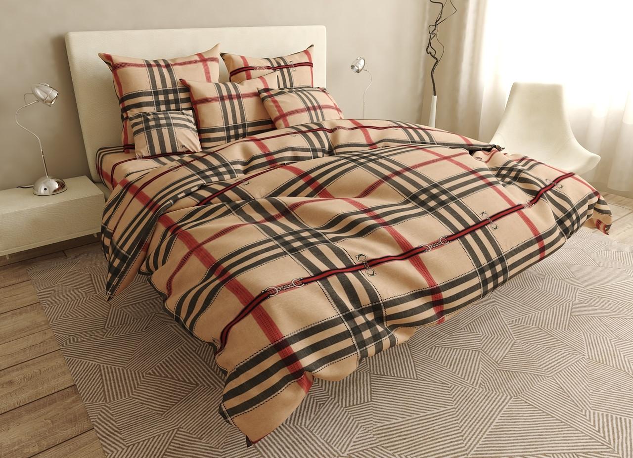 Двуспальный комплект постельного белья евро 200*220 хлопок  (15800) TM KRISPOL Украина