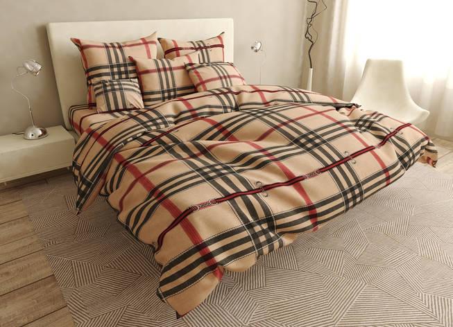 Двуспальный комплект постельного белья евро 200*220 хлопок  (15800) TM KRISPOL Украина, фото 2