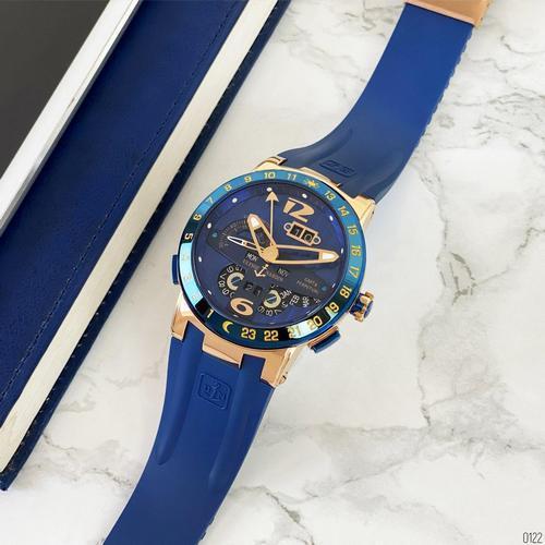 Часы наручные Ulysse Nardin Executive El Toro GMT Perpetual Blue-Gold-Blue