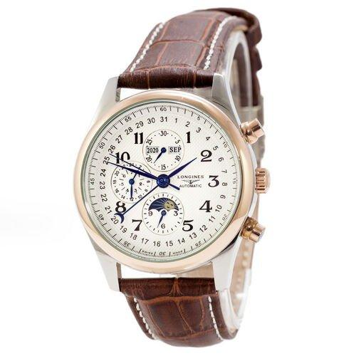 Часы наручные Longines Master Collection Moonphases Brown-Silver-Gold-White