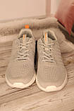 Чоловічі світло-сірі кросівки BAAS з наскрізною сіткою 41-45, фото 6