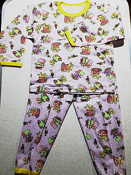 Пижамы детские  хлопок. Украина Цвета: розовый и голубой. Размер 30.