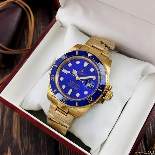 Часы наручные Rolex Submariner AAA Date Gold-Blue