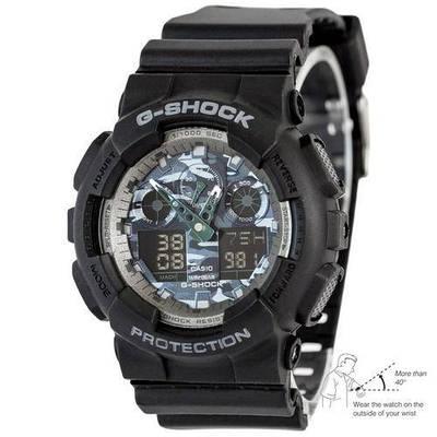 Мужские часы Casio G-Shock GA-100 Autolight Black-Gray