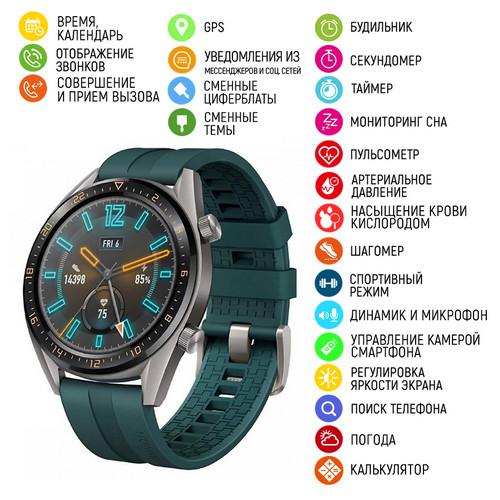 Часы наручные Modfit GT05 Green-Silver Silicone