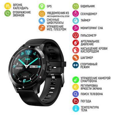 Часы наручные Modfit K15 All Black Silicone