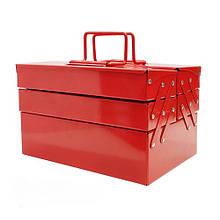 Ящик для инструмента металлический 340мм 5 отсеков (ХЗСО) MTB340-5