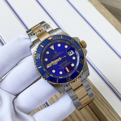 Rolex Submariner Lux Date Silver-Gold-Blue