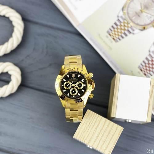 Годинники наручні Rolex Daytona Gold Automatic-Black