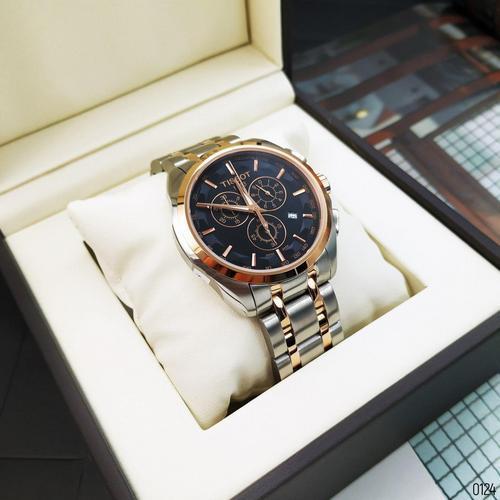 Часы наручные Tissot T-Classic Couturier Chronograph Steel Alt Silver-Gold-Gold-Black