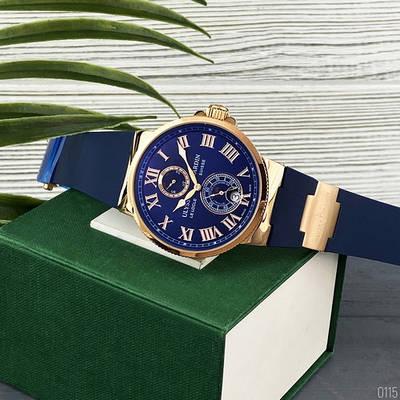 Часы наручные Ulysse Nardin Maxi Marine AAA Gold-Blue