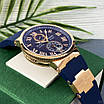 Часы наручные Ulysse Nardin Maxi Marine AAA Gold-Blue, фото 4