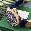 Часы наручные Ulysse Nardin Maxi Marine AAA Gold-Blue, фото 5