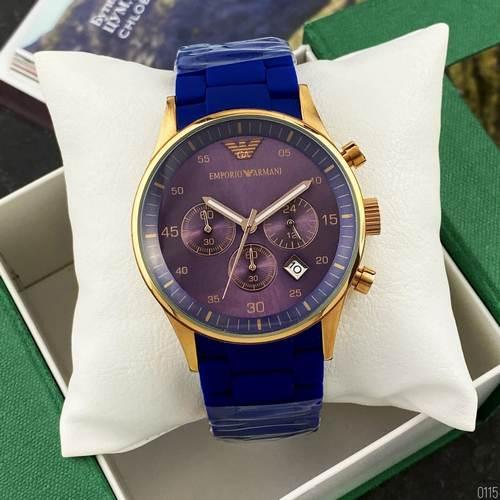 Часы наручные Emporio Armani AR-5905 Gold-Blue Silicone