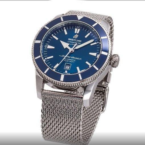 Часы наручные Breitling A23870 Silver-Blue