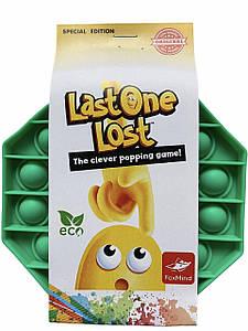 Сенсорна силіконова іграшка пупырка антистрес Pop It Last One Lost Зелений восьмикутник