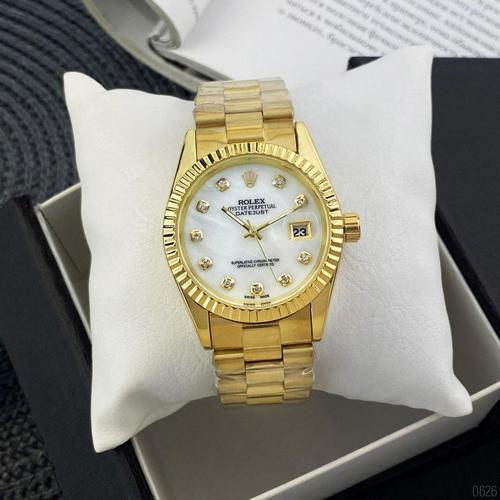 Rolex Date Just 067 Pearl Gold-White
