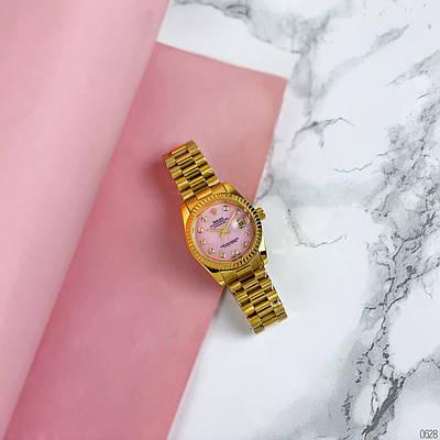 Женские наручные часы Rolex Date Just 067 Pearl Gold-Pink
