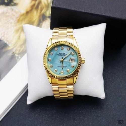 Rolex Date Just 067 Pearl Gold-Turquoise