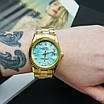 Rolex Date Just 067 Pearl Gold-Turquoise, фото 5