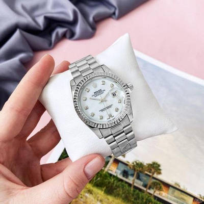 Часы наручные Rolex Date Just 067 Pearl Silver-White