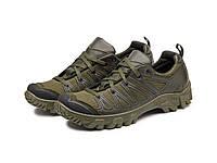 Трекінгові кросівки 220 сітка/олива