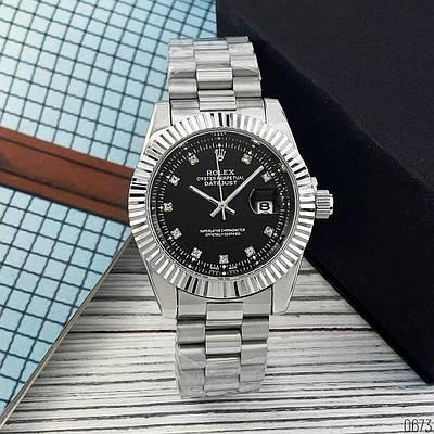 Часы наручные Rolex Date Just 067 New Silver-Black