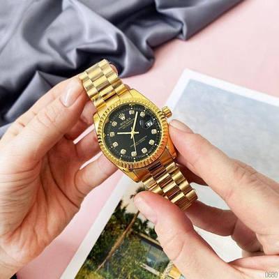 Часы женские Rolex Date Just 067 New Gold-Black