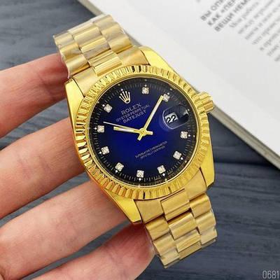 Часы Rolex Date Just 067 New Gold-Blue