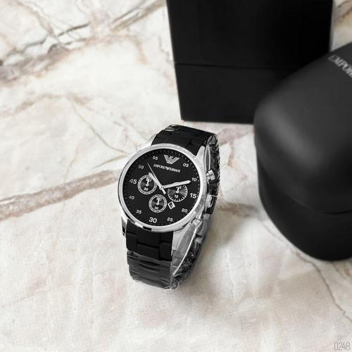 Emporio Armani Silicone 068 Silver-Black
