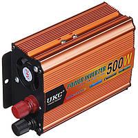 Инвертор преобразователь напряжения автомобильный UKC POWER с 24 на 220 В 500W