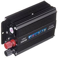 Инвертор преобразователь напряжения автомобильный UKC с 12 на 220 В 300W