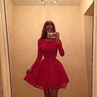 Гипюровое платье с фатиновым подъюбником (черное,красное)