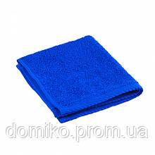 Салфетка кухонная махровая 30*30 синяя Узбекистан