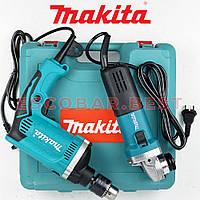 Ударная дрель MAKITA HP1640 + Угловая шлифмашина MAKITA 9555NB