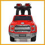 Детская каталка-толокар Ford Bambi FD-6821-3 с музыкой и светом Красный, фото 5