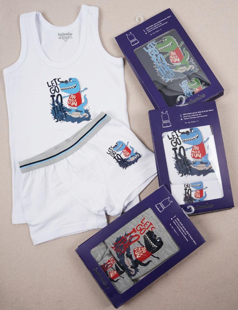 Комплект дитячої білизни 3-4 роки майка і трусики для хлопчиків ТМ Katamino