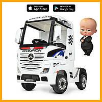 Дитячий електромобіль Вантажівка Мерседес M 4208EBLR-1 муз світ MP3 USB білий