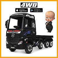 Двомісний дитячий електромобіль вантажівка з причепом Mercedes-Benz M 4208EBLR-2(2)