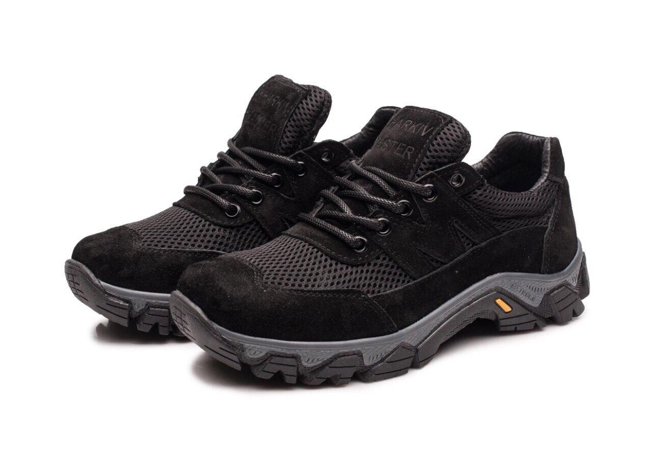 Жіночі тактичні кросівки -119 сітка/замша/чорні