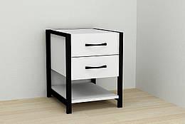 Тумба Ferrum-decor Вивьен 2 1 50x41x40 см Черный с белым XK00127, КОД: 1778519