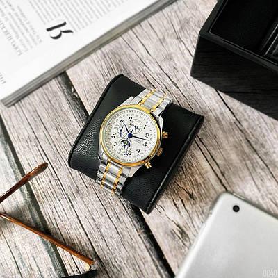 Часы наручные Longines Master Collection Moonphases Steel Silver-Gold-White