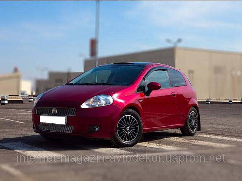 Дефлекторы окон (ветровики) FIAT Grande Punto 3d 2005-