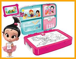 Навчальний набір для малювання Backpack packing 3 в 1 Рожевий