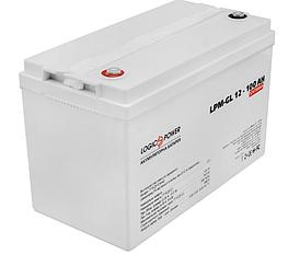 Аккумулятор 100 Ah гелевый 12В LogicPower LPM-GL 12-100