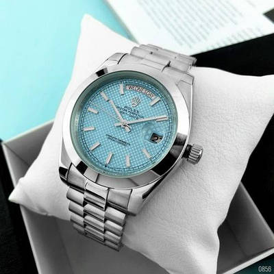 Rolex Day-Date Silver-Blue