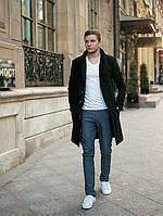 Пальто мужское кашемировое утепленное P116
