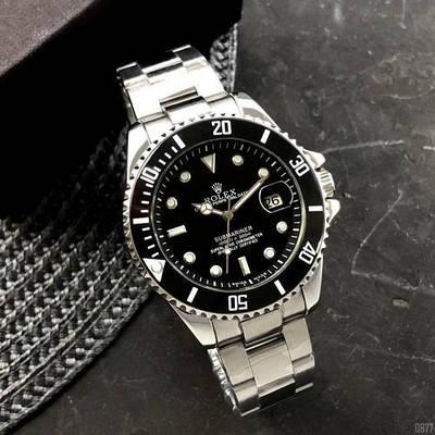 Мужские часы Rolex Submariner Automatic Silver-Black