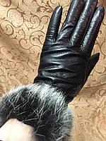 Кожа(Натуральная)Махра женские перчатки/Перчатки женские кожаные
